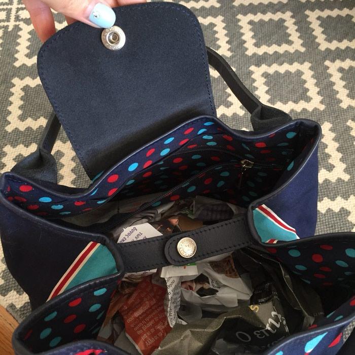 Longchamp canvas υφασμάτινη τσάντα. Σε σκούρο. Photo 6