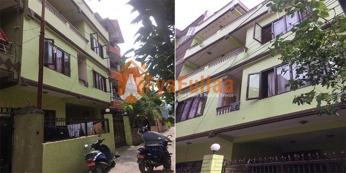 A new house having land area 0-3-0-1 of 3.5 floors, facing North 10 in Kathmandu