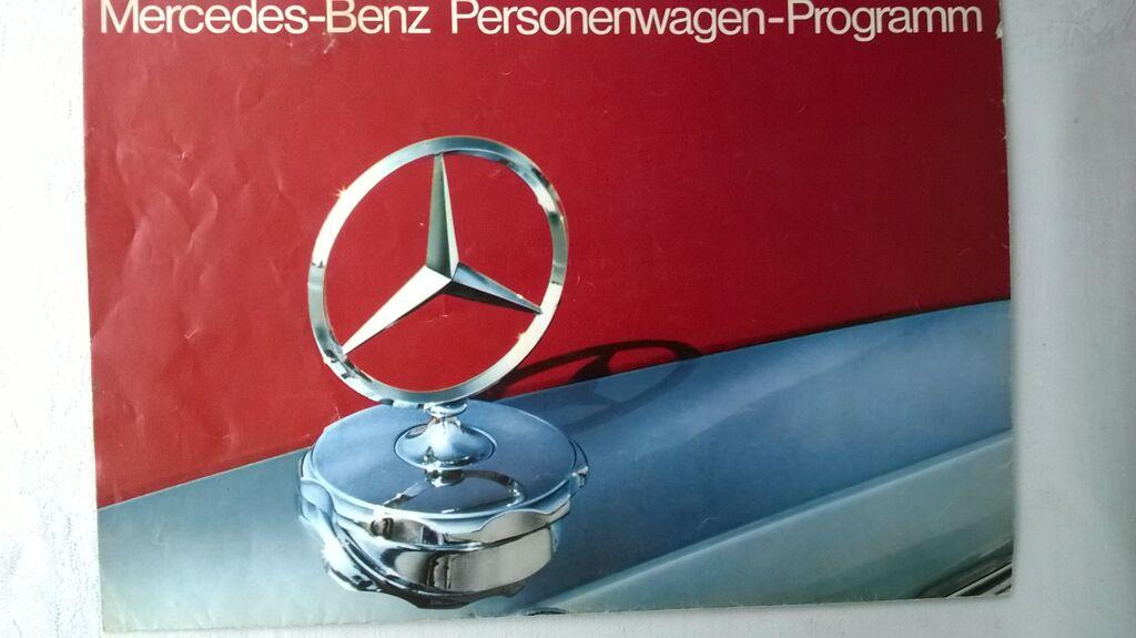 Prospekt  program Mercedes 115 u vidu postera bez teh