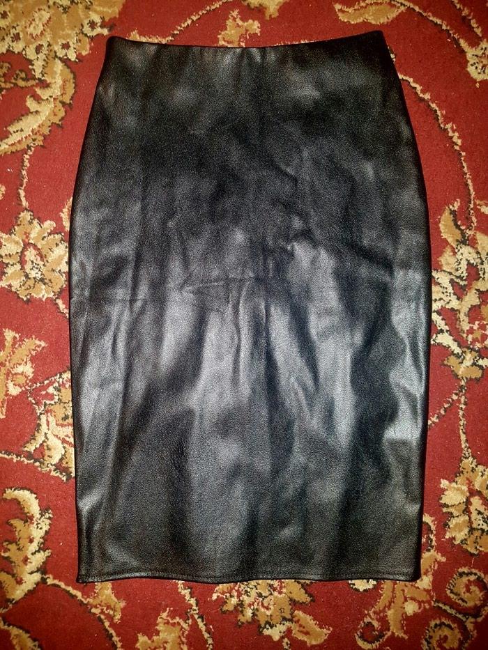 Новая юбка кожаная женская
