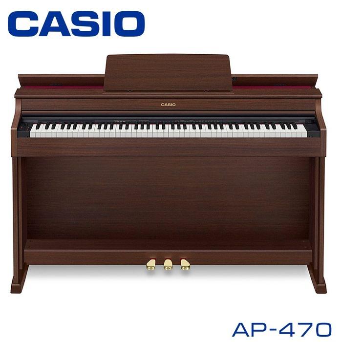 Пианино:CASIO CELVIANO AP-470- это цифровое пианино с полноразмерной клавиатурой (88 клавиш), аутентичным звучанием и классическим дизайном