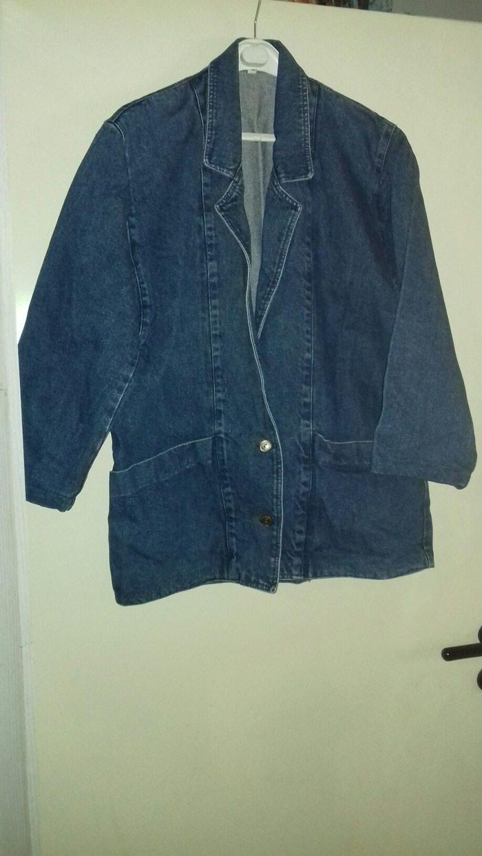 Τζιν σακάκι νούμερο Large σε άριστη κατάσταση ελάχιστα φορεμένο. Photo 0