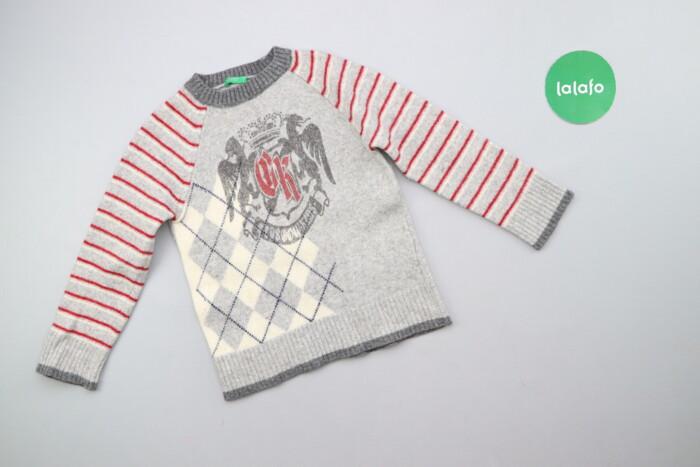 Дитячий светр з принтом Benetton, вік 5-6 р., зріст 120 см    Довжина: Дитячий светр з принтом Benetton, вік 5-6 р., зріст 120 см    Довжина: