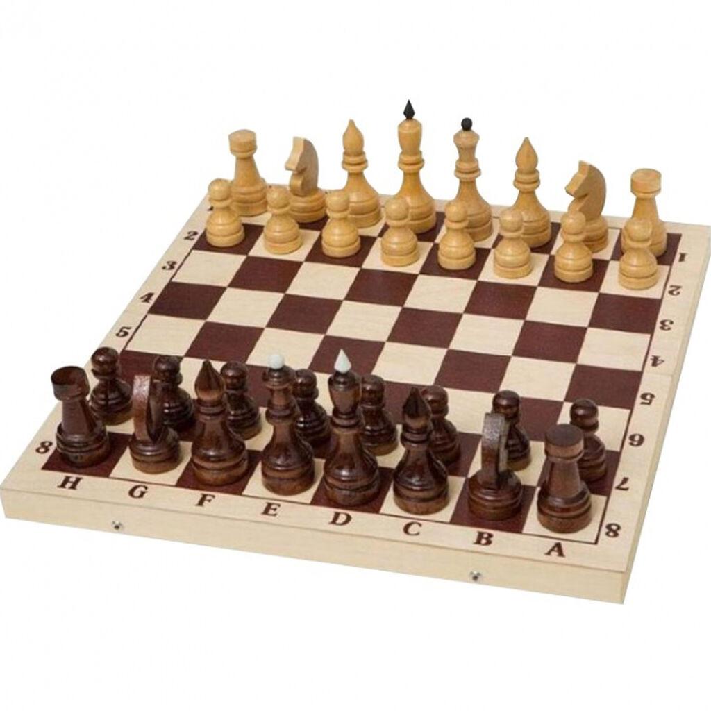 Шахматы турнирные утяжеленные в комплекте с доской 55 (E-2)