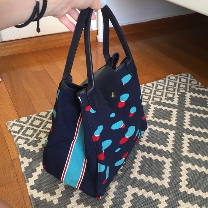 Longchamp canvas υφασμάτινη τσάντα. Σε σκούρο. Photo 3