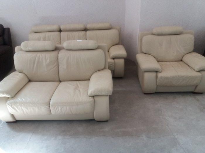 Кожаная мебель б/у из Германии. Два дивана и кресло. в Бишкек