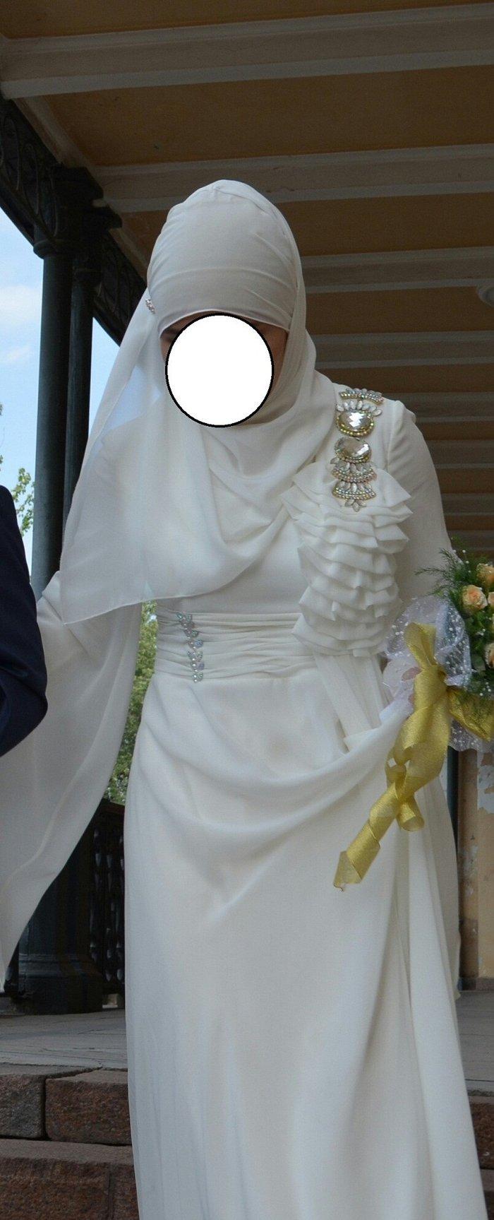 Платье на свадьбу  кыз узатуу! идеально подойдет для покрытых девушек