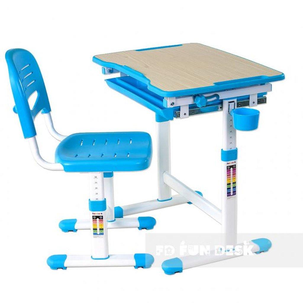 Комплект: парта + стул FunDesk Piccolino Blue