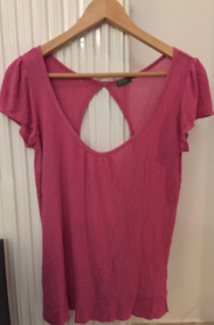 Φούξια Μπλούζα benetton ελαφρά γυαλιστερό σε Υπόλοιπο Αττικής