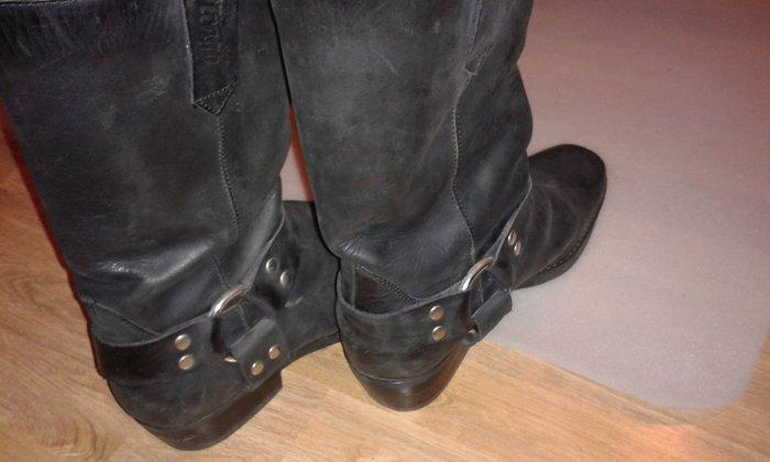 Δερμάτινες ανδρικές μπότες 44 νούμερο. Photo 1