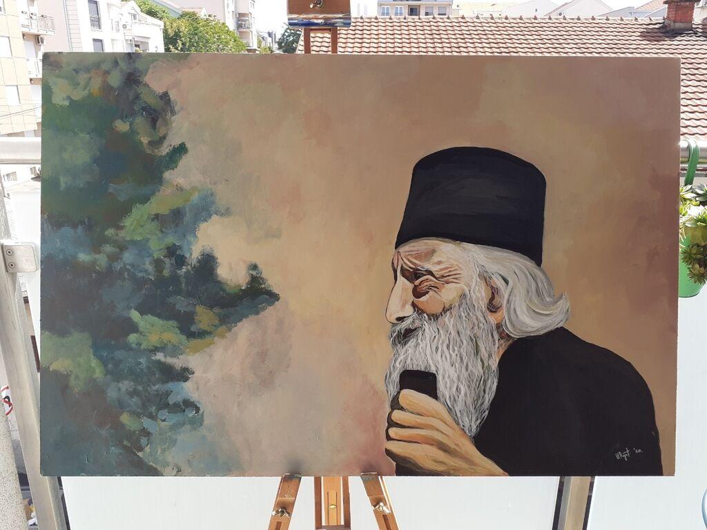 Slike - Beograd: Patrijarh Pavle autorska/originalna  Sliku kupujete direktno od autora