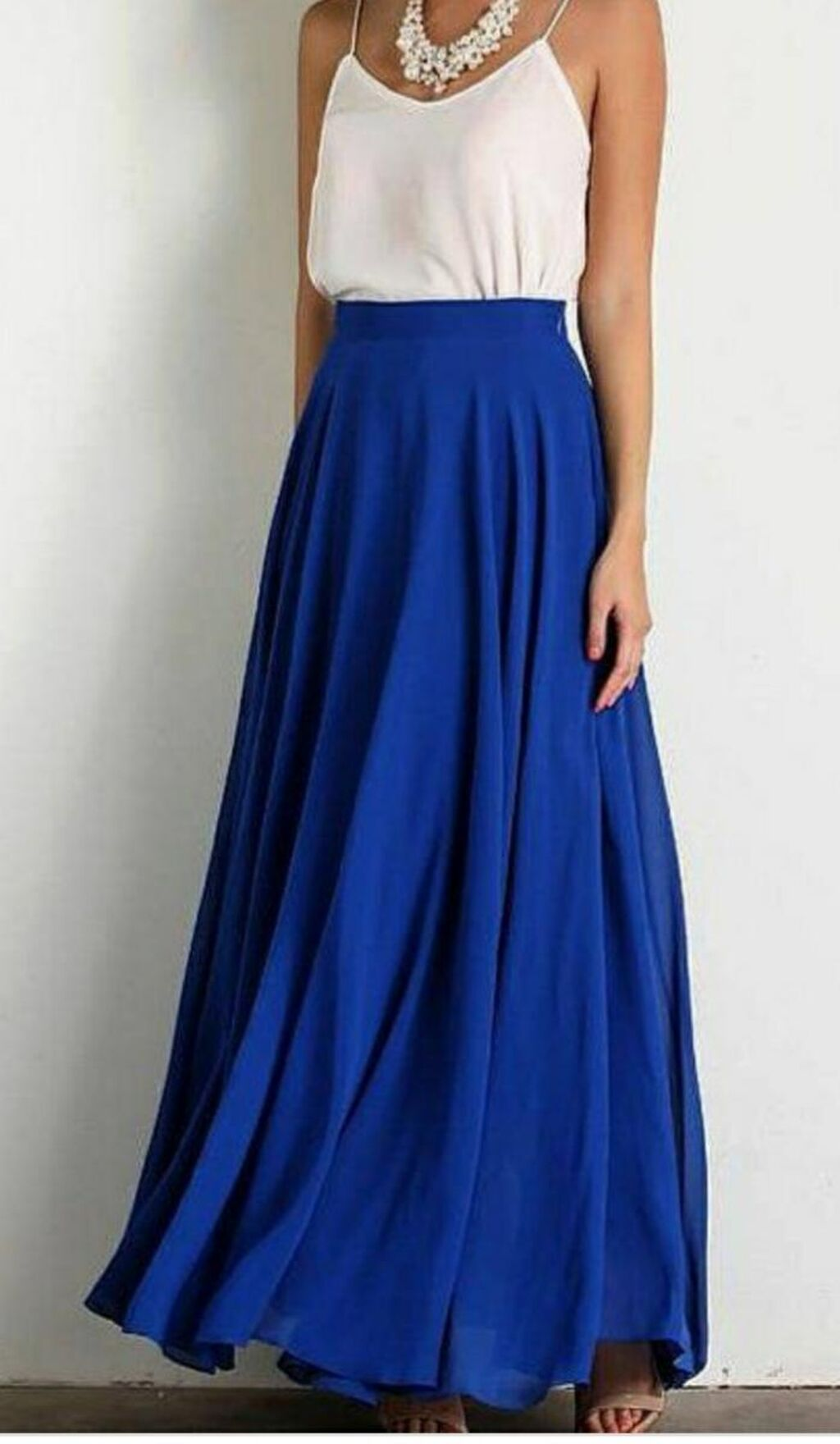 ZANZEA Royal plava suknja dugacka.   Veličina 36  BEZ RAZMENE