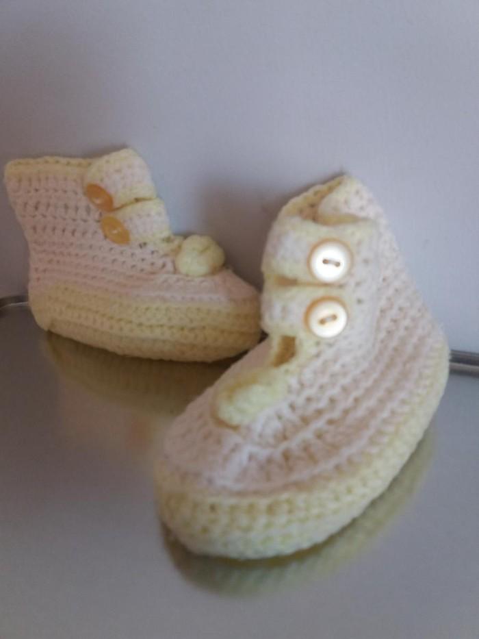 Βρεφικα παπουτσακια, ζεστα και απαλα, χειροποιητα πλεκτα.. Photo 1