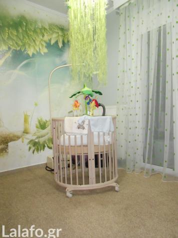 Πωλείται κούνια stokke λίκνο και επεκτάσεις σε χρώμα natural που μετατρέπουν το λίκνο σε παιδική κούνια (για ηλικία από 0 έως 3 ετών)