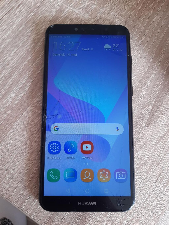 Prodajem Huawei Y6 2018,staklo je puklo u coskovima(slikano)sve ostalno radi perfektno,baterija dobra,kamera takodje