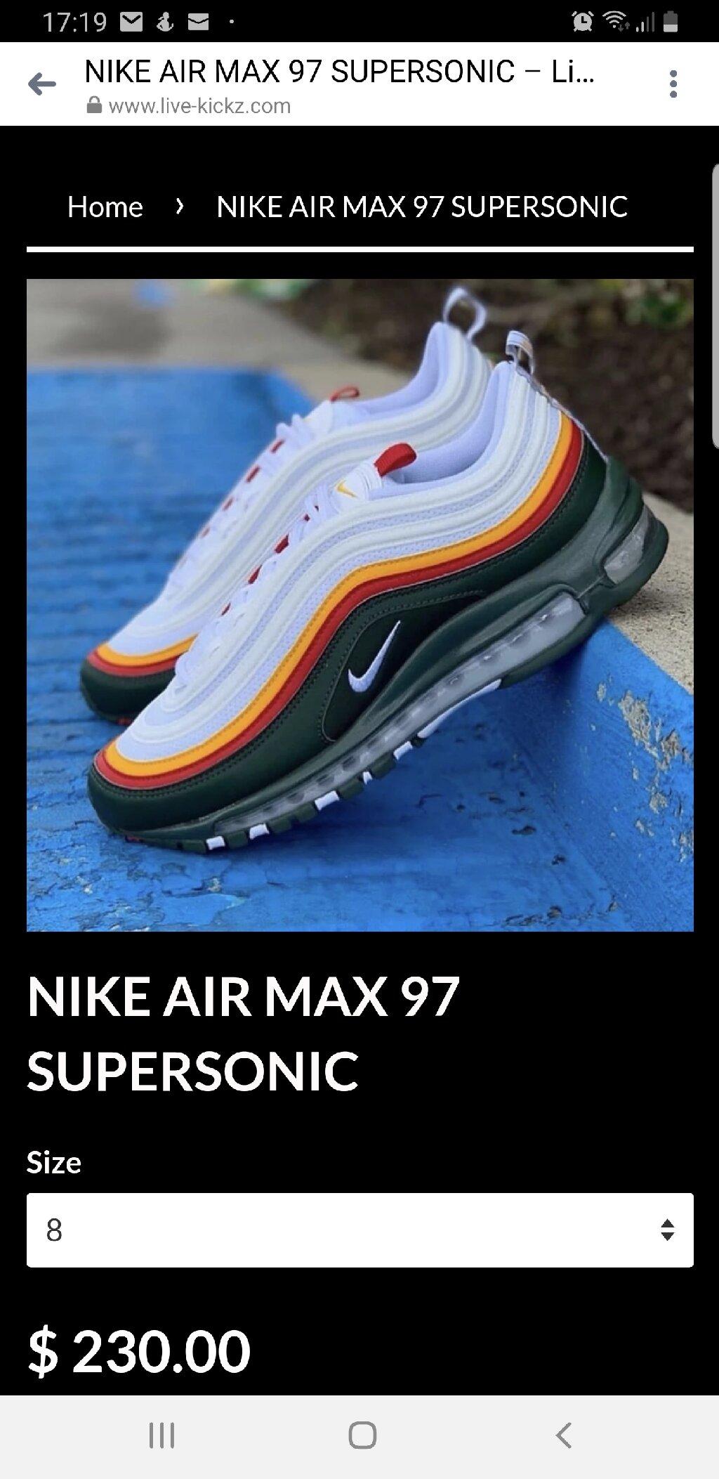 Nike Air Max 97 Supersonic original br