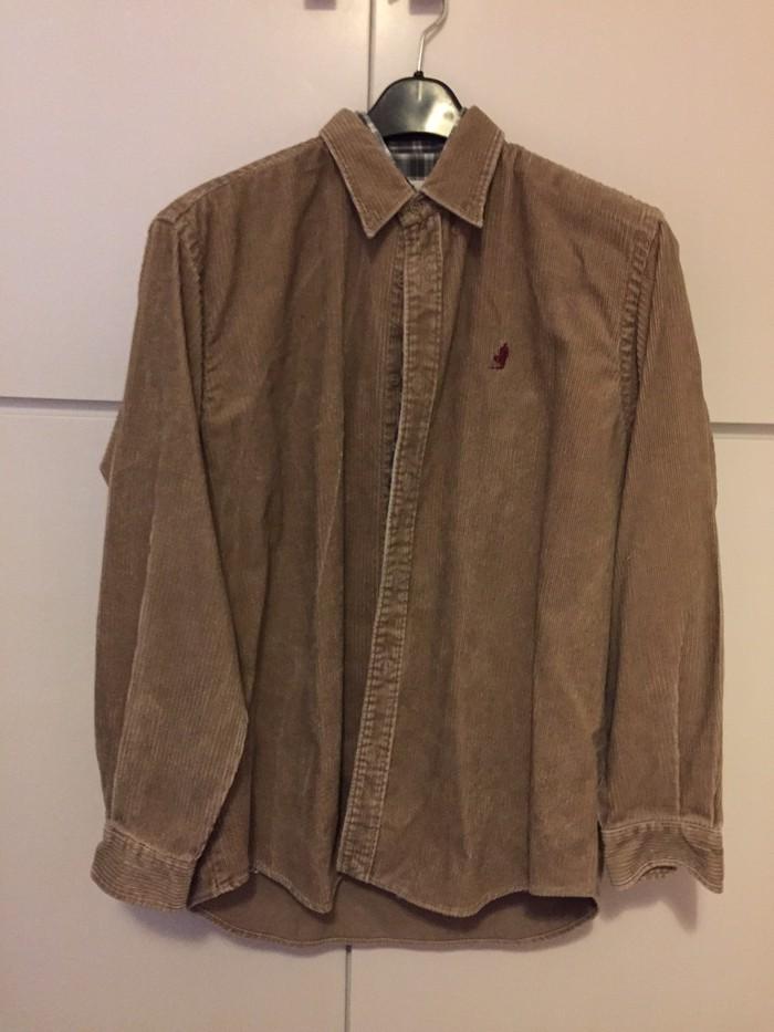 Marlboro Classics ανδρικό κοτλέ μπεζ πουκάμισο . Αφόρετο . Νο Large