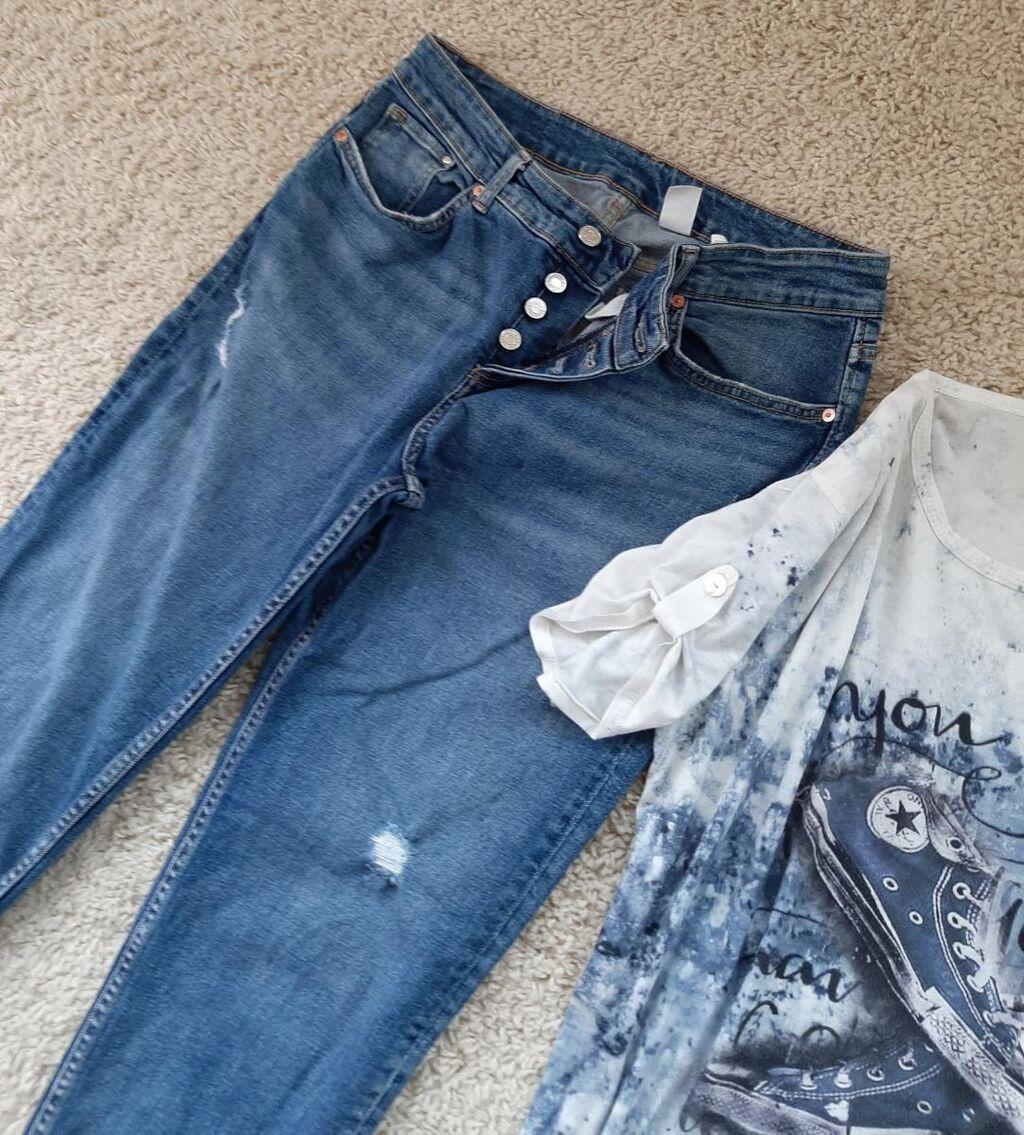 H&M Boyfriend farmerke plus poklon majica