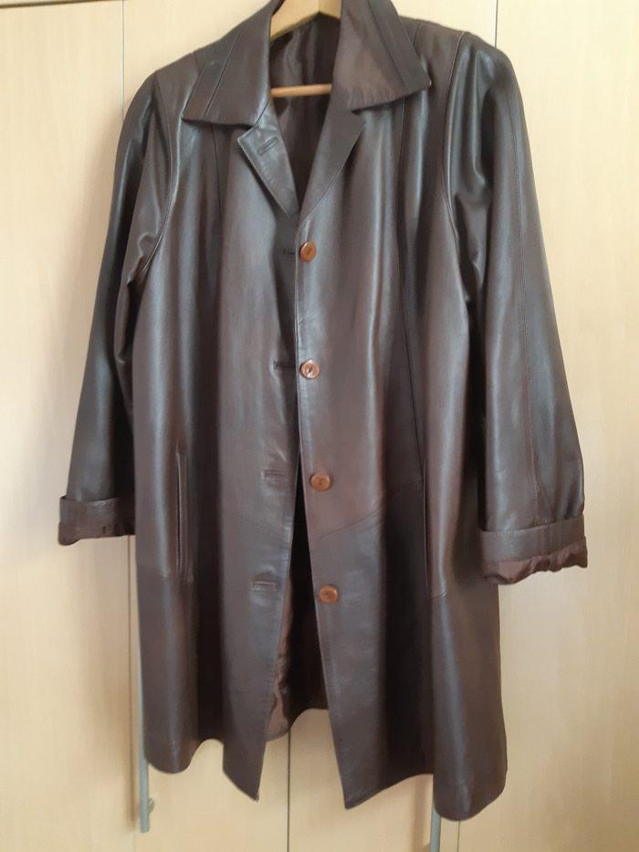 Original kozna jaka crvena i braon. Photo 0