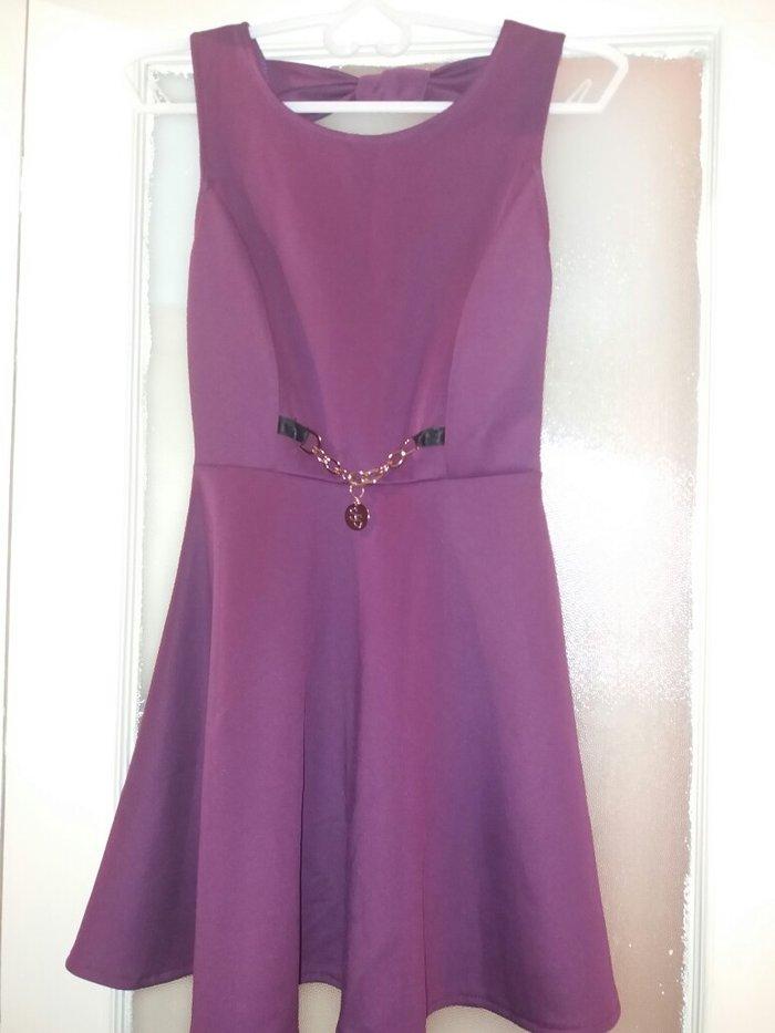 μοβ φόρεμα σε αλφα γραμμή, small νούμερο σε τέλεια κατάσταση, μια φορά σε Kallithea