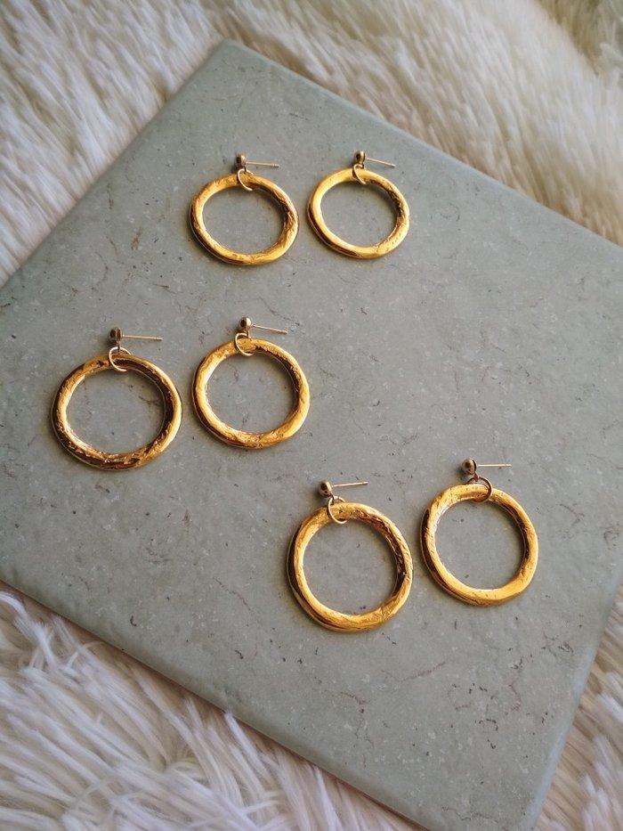 Χειροποίητα χρυσά σκουλαρίκια (δικής μου κατασκευής) for 8 EUR in ... 183086cf500