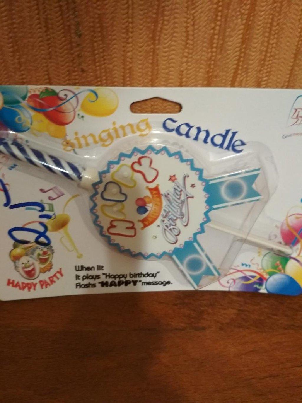 Свеча для торта для детского дня рождения.Могу доставить к м.Аджеми