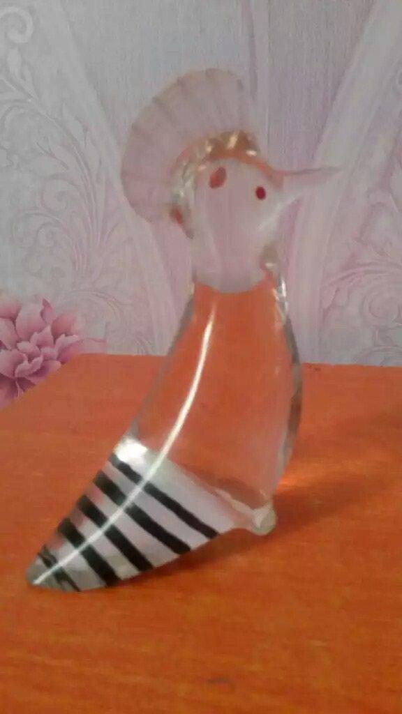 Статуетка Удод (шонасарак) стеклянный.. Photo 0
