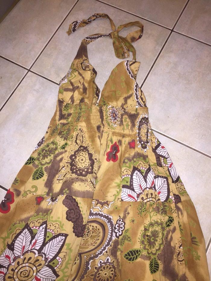 Γυναικείος ρουχισμός - Υπόλοιπο Αττικής: Boho maxi ββακερο φορεμα με ανοιχτη πλατη . Αφορετο . Νο small