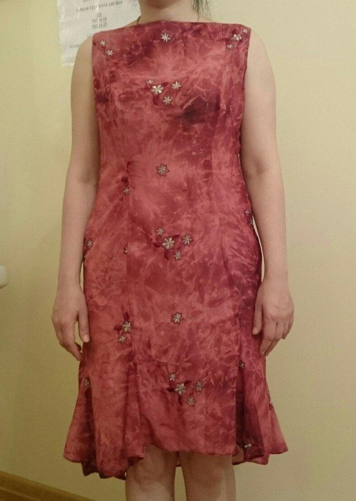 Şifon elbise.Gózel górûnûşe malikdir.Serin saxlayır.36-38. Photo 1