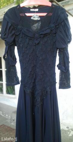 Платье новое,размер 46-48. Цвет темно-синий
