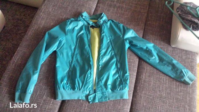 Kenvelo zenski suskavac,jaknica tirkizne boje. Velicina l. Nosen - Beograd