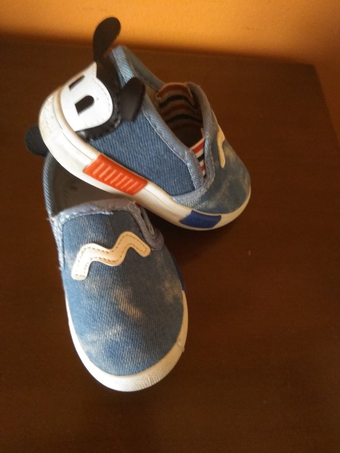 Παιδικά παπούτσια τζιν με αερογραφια. Photo 0
