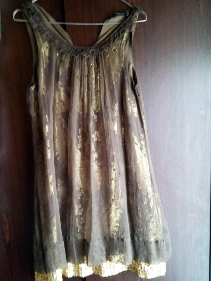 Raxevsky καφέ χρυσό φόρεμα no small. Photo 0