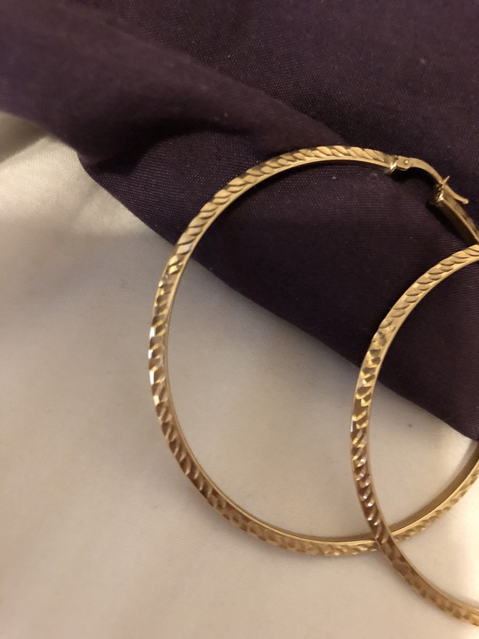 Προς πώληση! Μεγάλα 10K χρυσός σκουλαρίκια! Made in Italy!. Photo 3