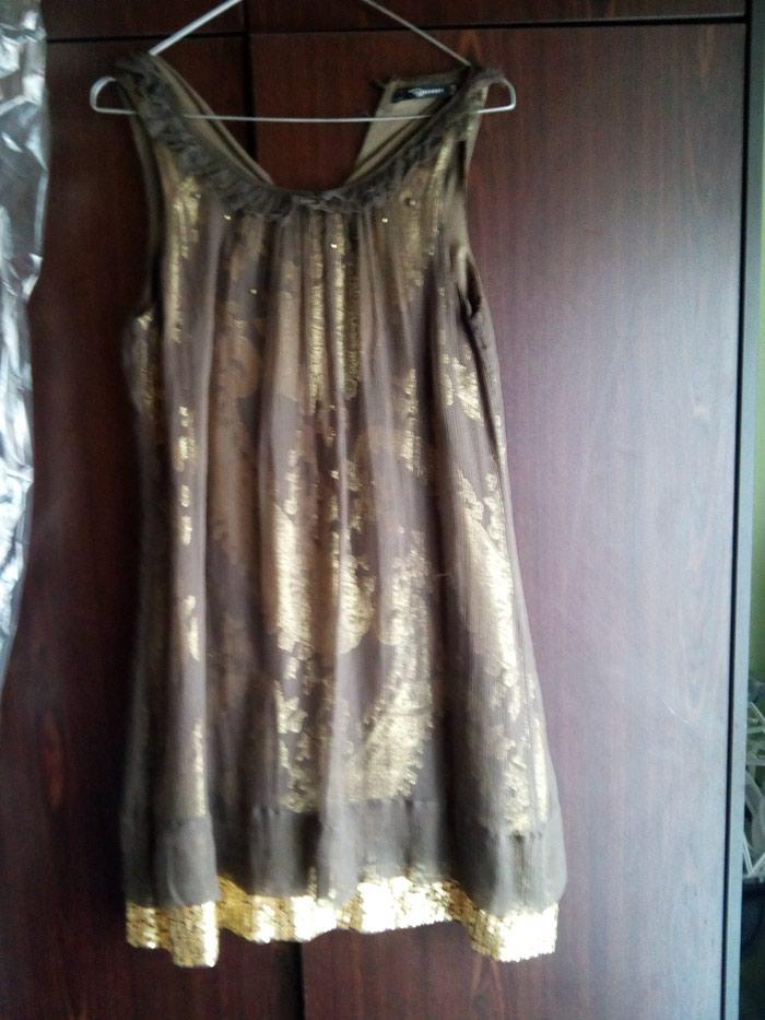 Raxevsky καφέ χρυσό φόρεμα no small. Photo 2