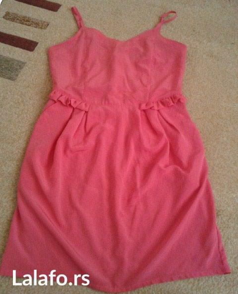 Roze letnja haljinice, obucena jednom.. Odgovara veličini m-l - Beograd