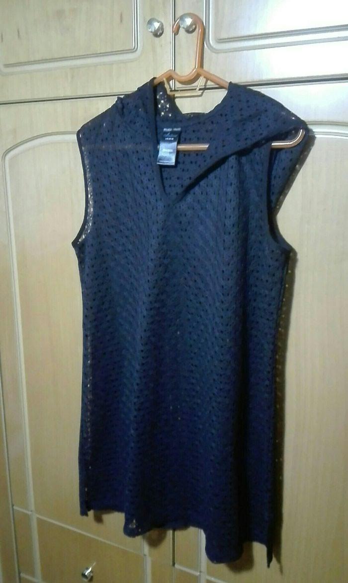Τουνικ μαύρο με κουκούλα large σε Λαμία