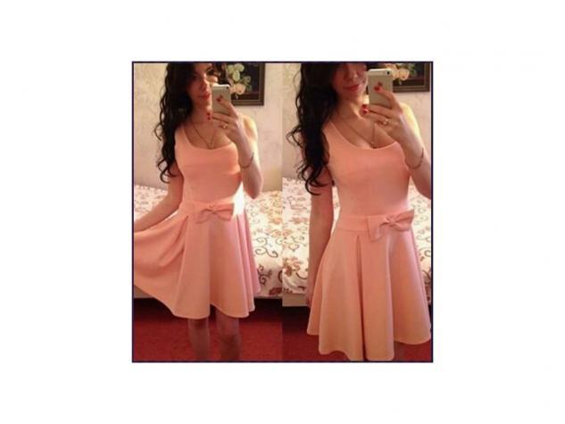 -prelepa pamucna haljinica boja kajsije koja se izradjuje u vise boja - Novi Sad
