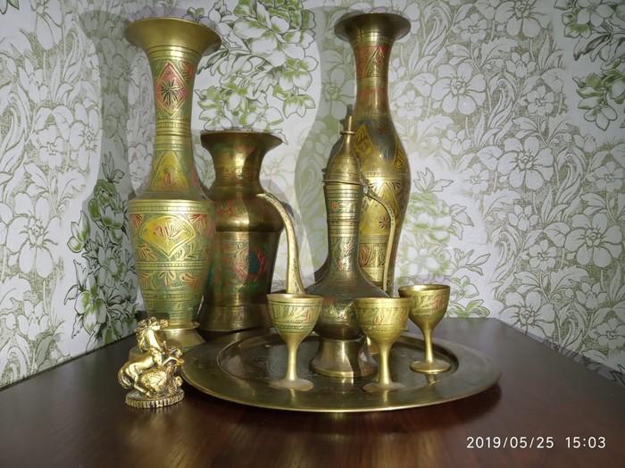 Антикварные вазы ручная работа из лутри Индия. Photo 0