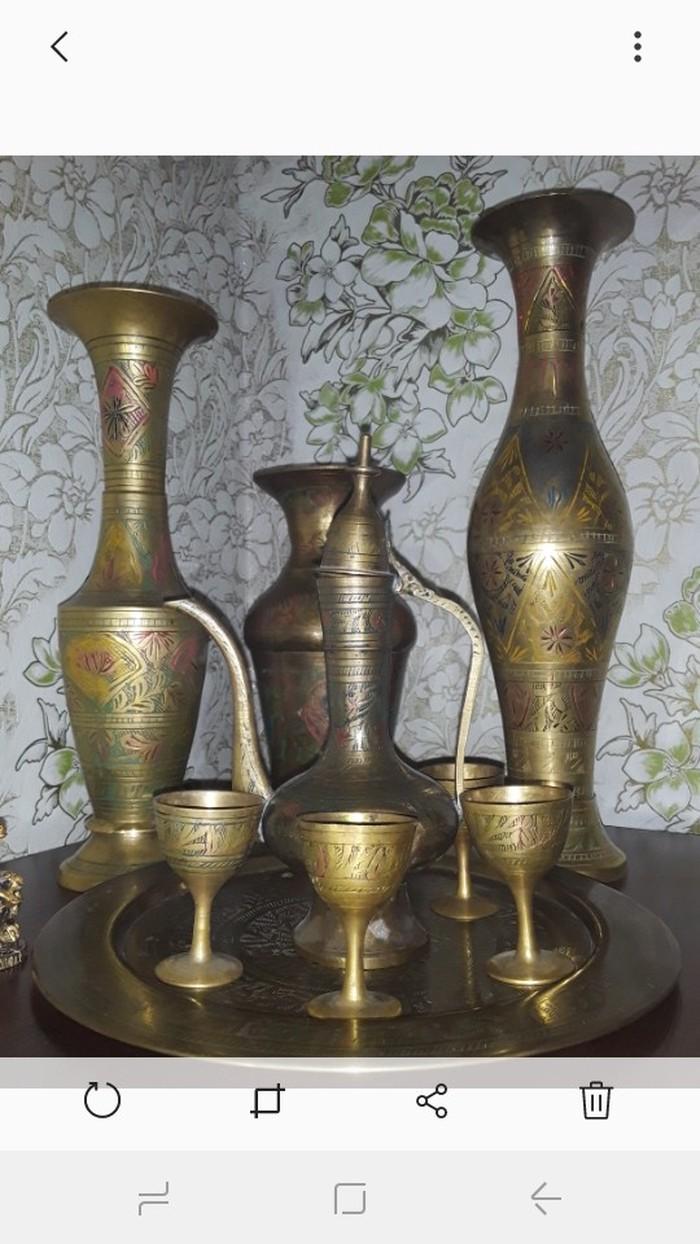 Антикварные вазы ручная работа из лутри Индия. Photo 1