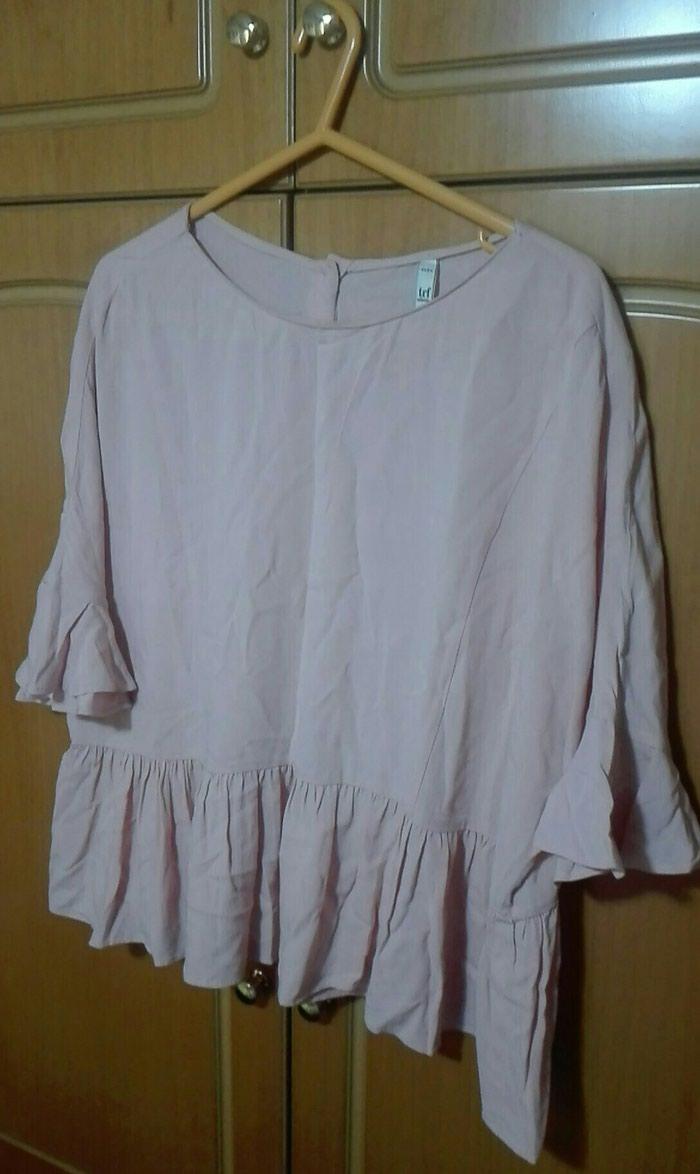 Πουκάμισο μπλούζα με βολαν ροζ ζαρα νούμερο large σε Λαμία