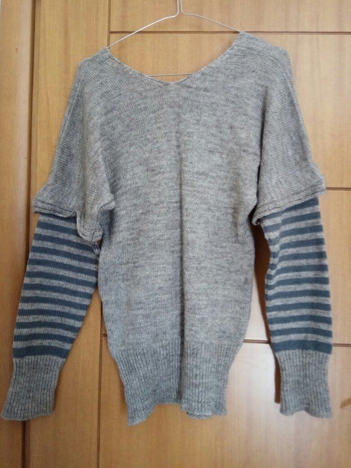 Πλεκτή ριχτη μπλούζα aggressive design size small.. Photo 2