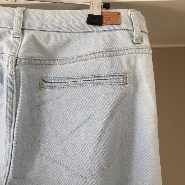 Zara ανοιχτό γαλάζιο jean καμπάνα.. Photo 7