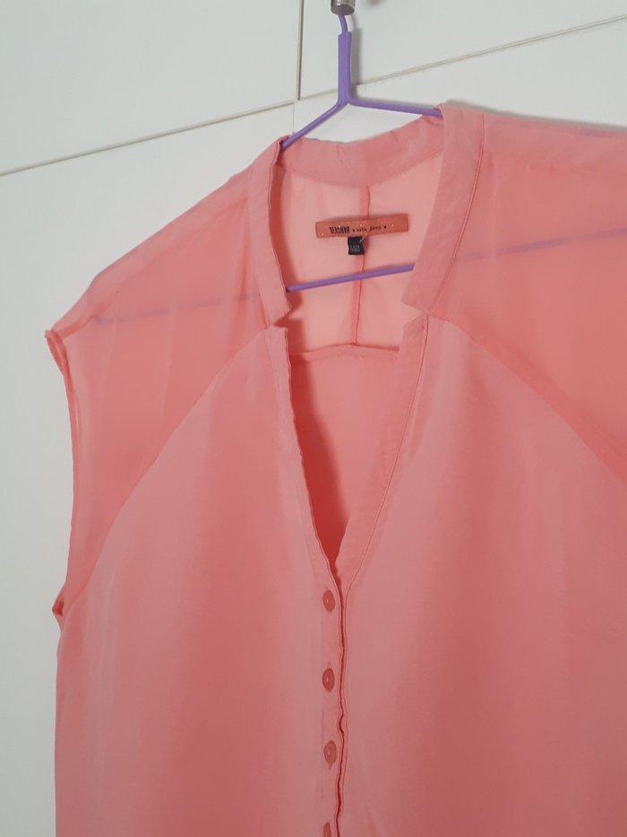 Μπλουζα ολοκαινουρια σε παλ χρωμα. Με διαφανεια στους ωμους και λαστιχ. Photo 3