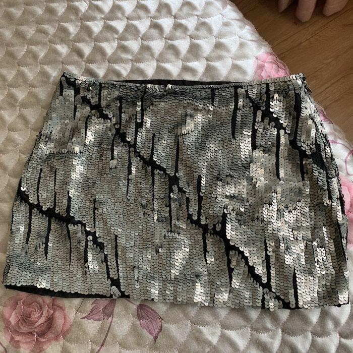 Вечерняя мини-юбка из пайеток XS