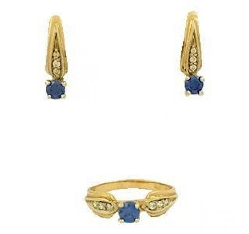 золотой комплект с бриллиантами и сапфирами  часы работы: с 10:00 в Бишкек