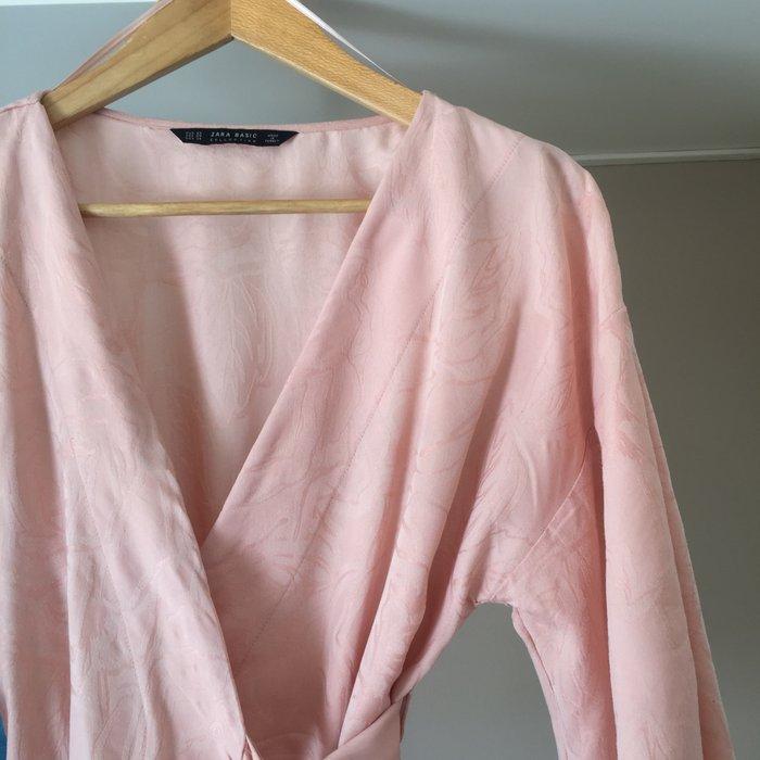 Zara Woman ροζ παλ κιμονο-μπλούζα με. Photo 4