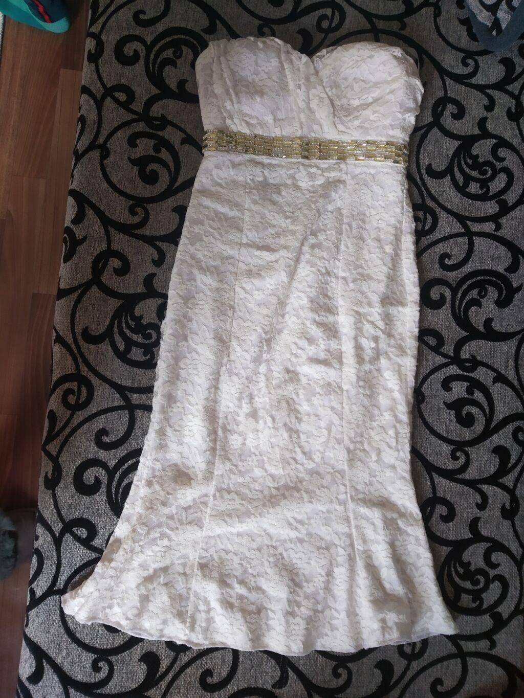 Продаю белое платье с открытой спинкой1300: Платье Вечернее S