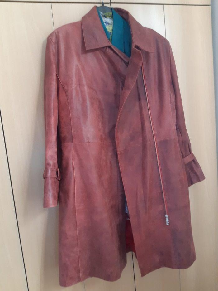 Original kozna jaka crvena i braon. Photo 1