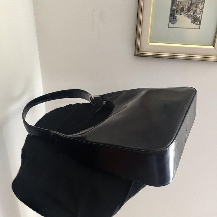 Καλογήρου μαύρη δερμάτινη τσάντα ώμου. Photo 5